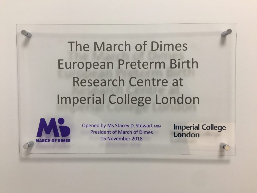 March Of Dimes Opens Prematurity Research Centre At Imperial College London